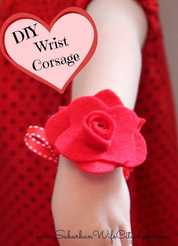 DIY felt wrist corsage