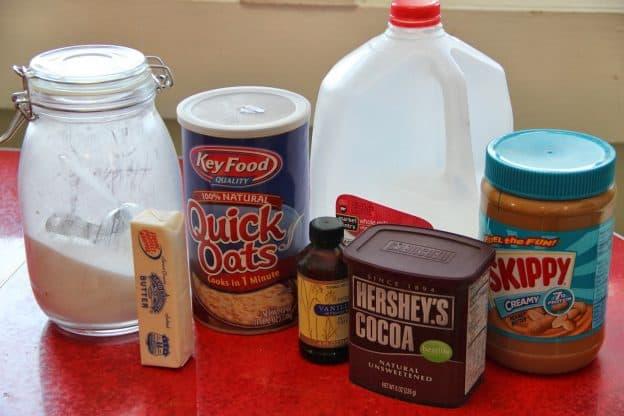 chocolate no bake cookies ingredients