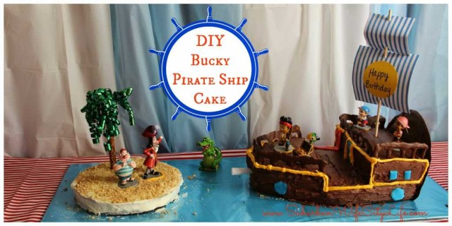 DIY- Bucky Pirate Ship Cake