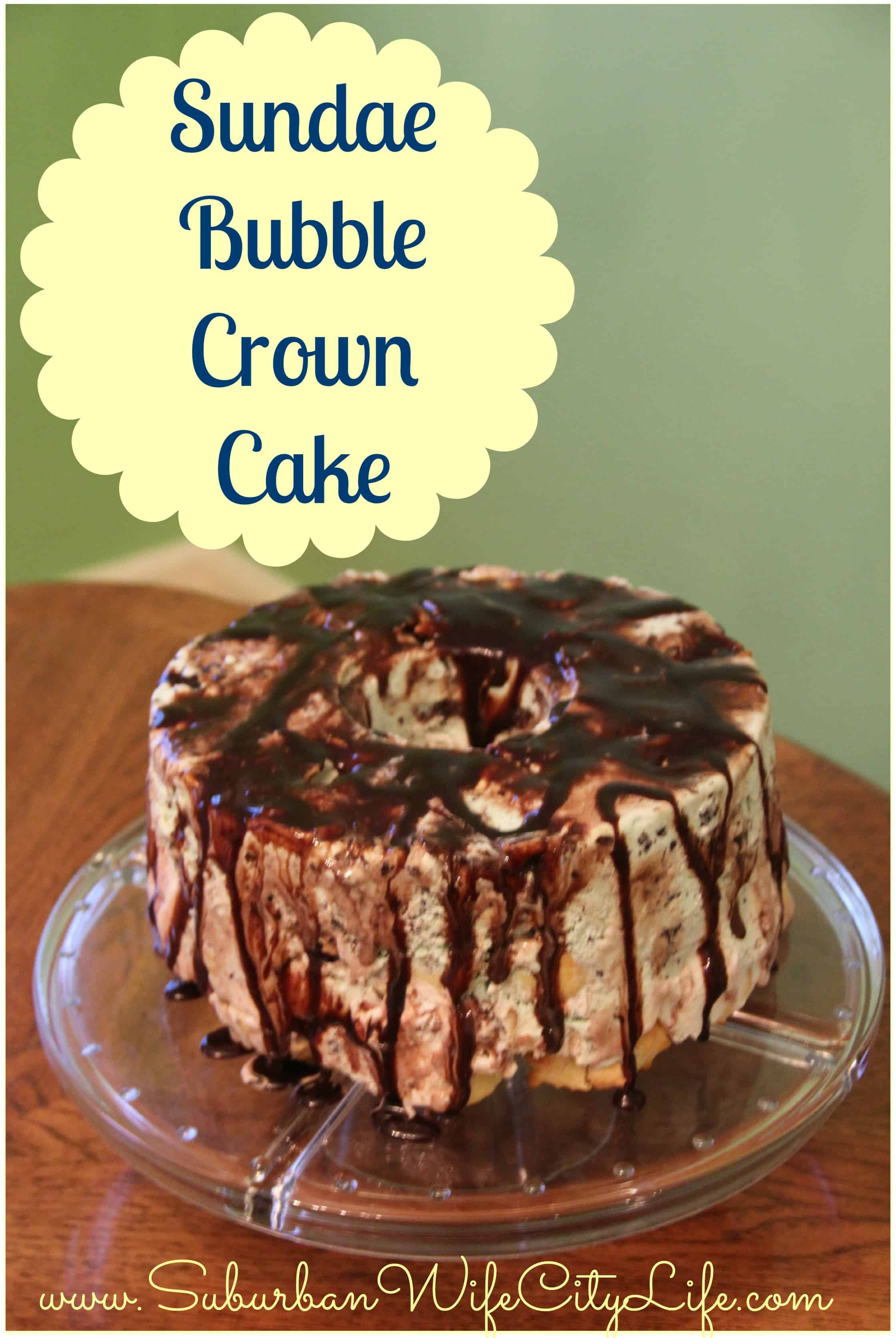 Sundae Bubble Crown Cake
