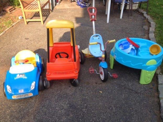 Garage sale outdoor toys