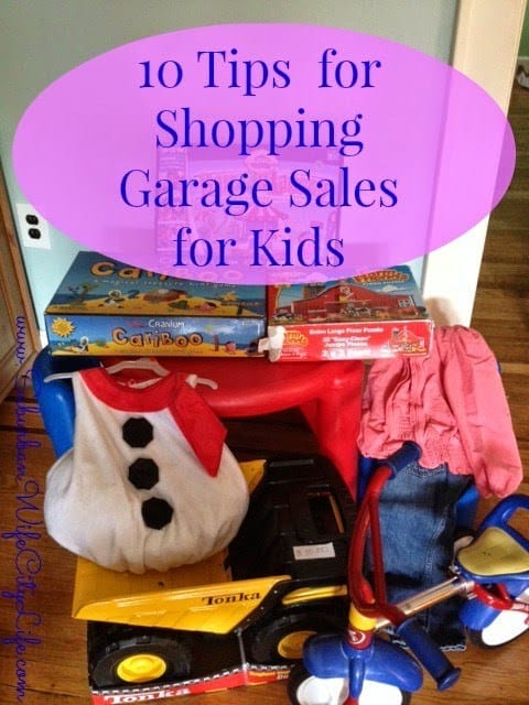 Tips for shopping Garage sales for kids
