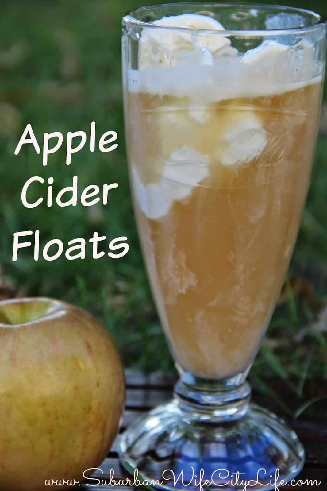 Apple cider Floats