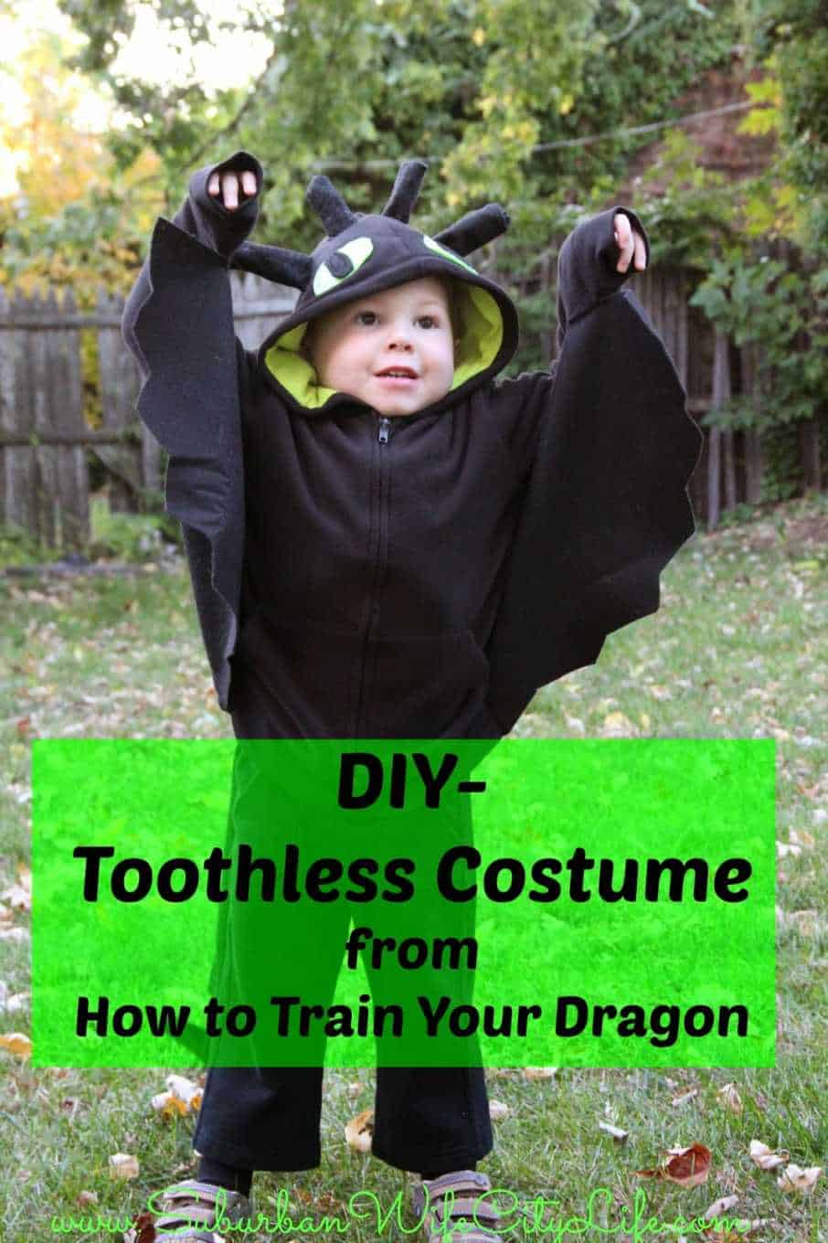 Toothless Costume. A DIY costume starting with a sweatshirt.