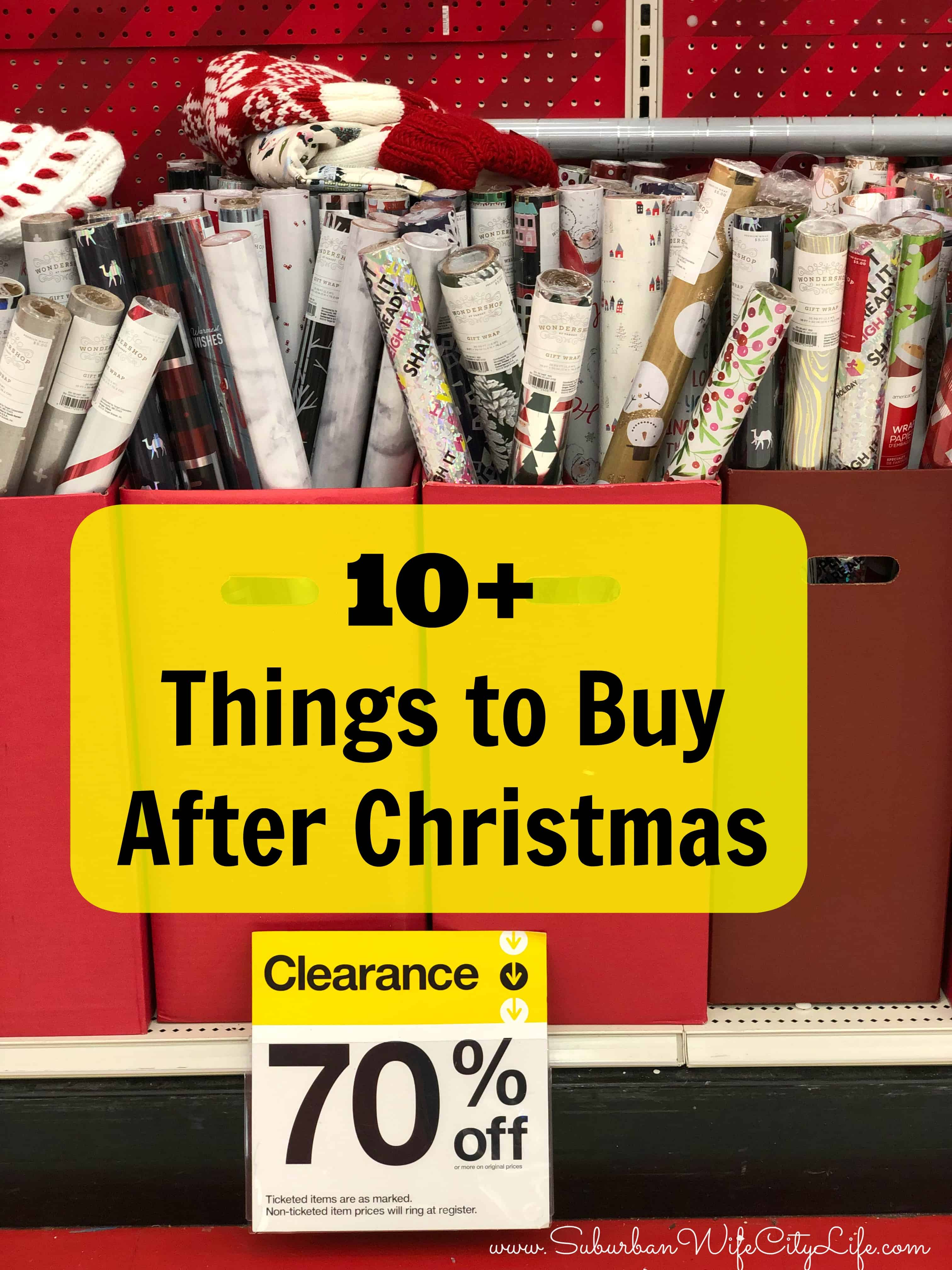10+ Things to buy after Christmas