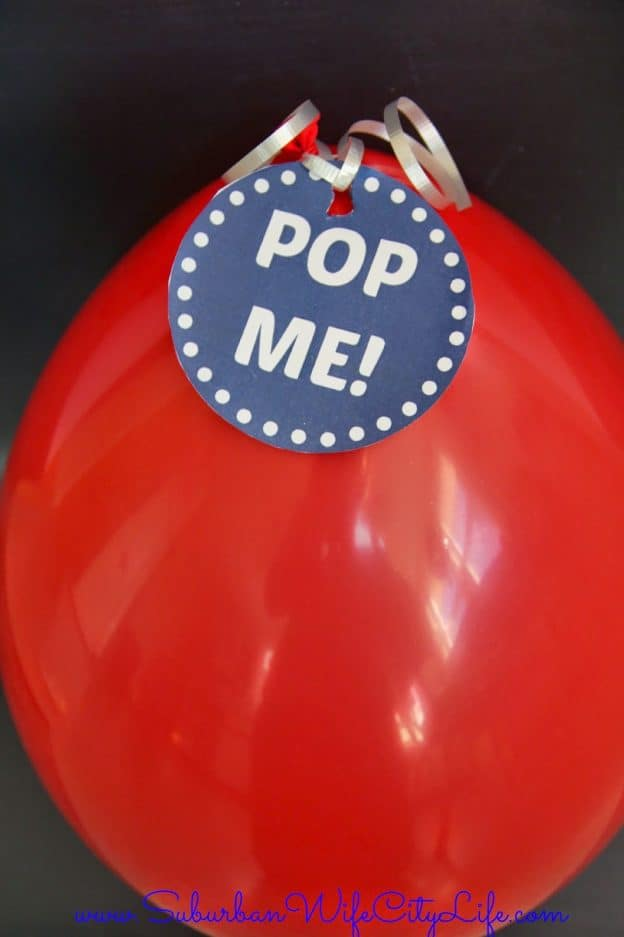 Gift Certificate in a balloon