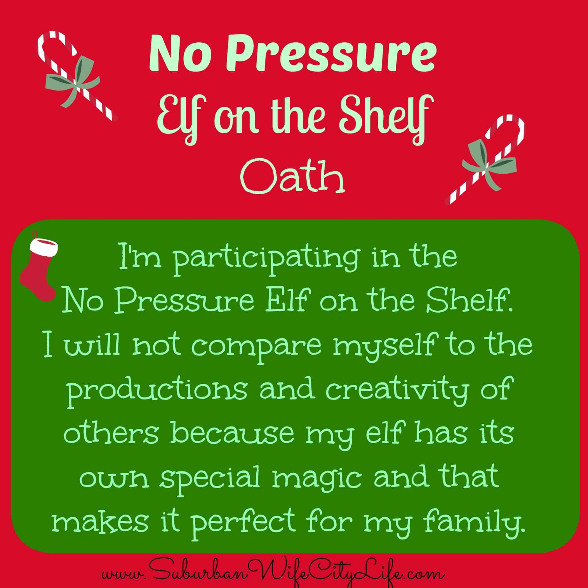 No Pressure Elf on the Shelf Oath