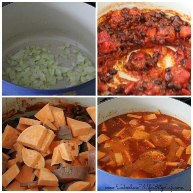 Sweet Potato Quinoa Chili steps