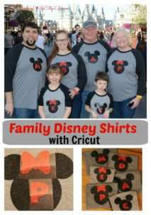 DIY Family Disney shirts with Cricut