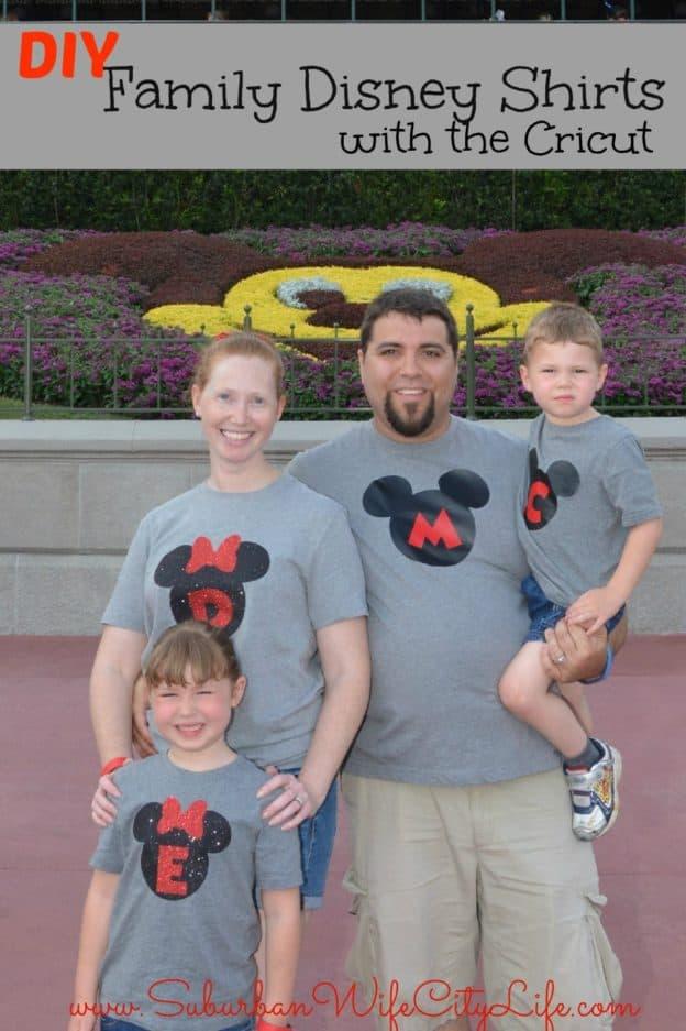 Family Disney shirts with Cricut