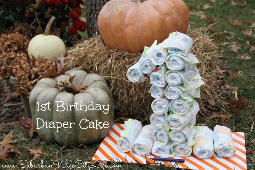 1st Birthday Diaper Cake gift
