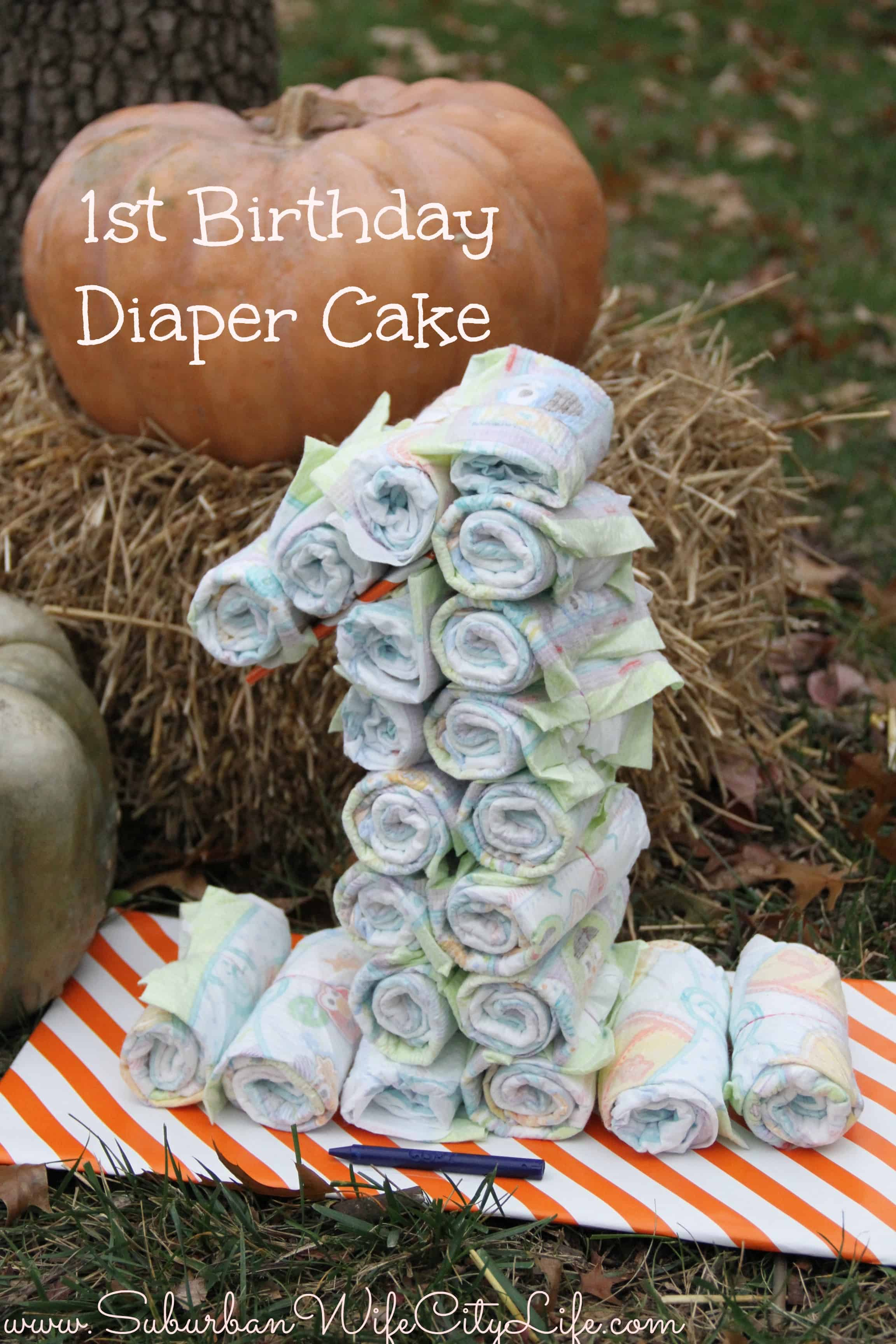 1st Birthday Diaper Cake