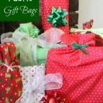 DIY Reusable Fabric Gift Bags