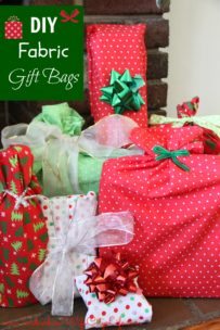 DIY Reusable Fabric Gift Bags
