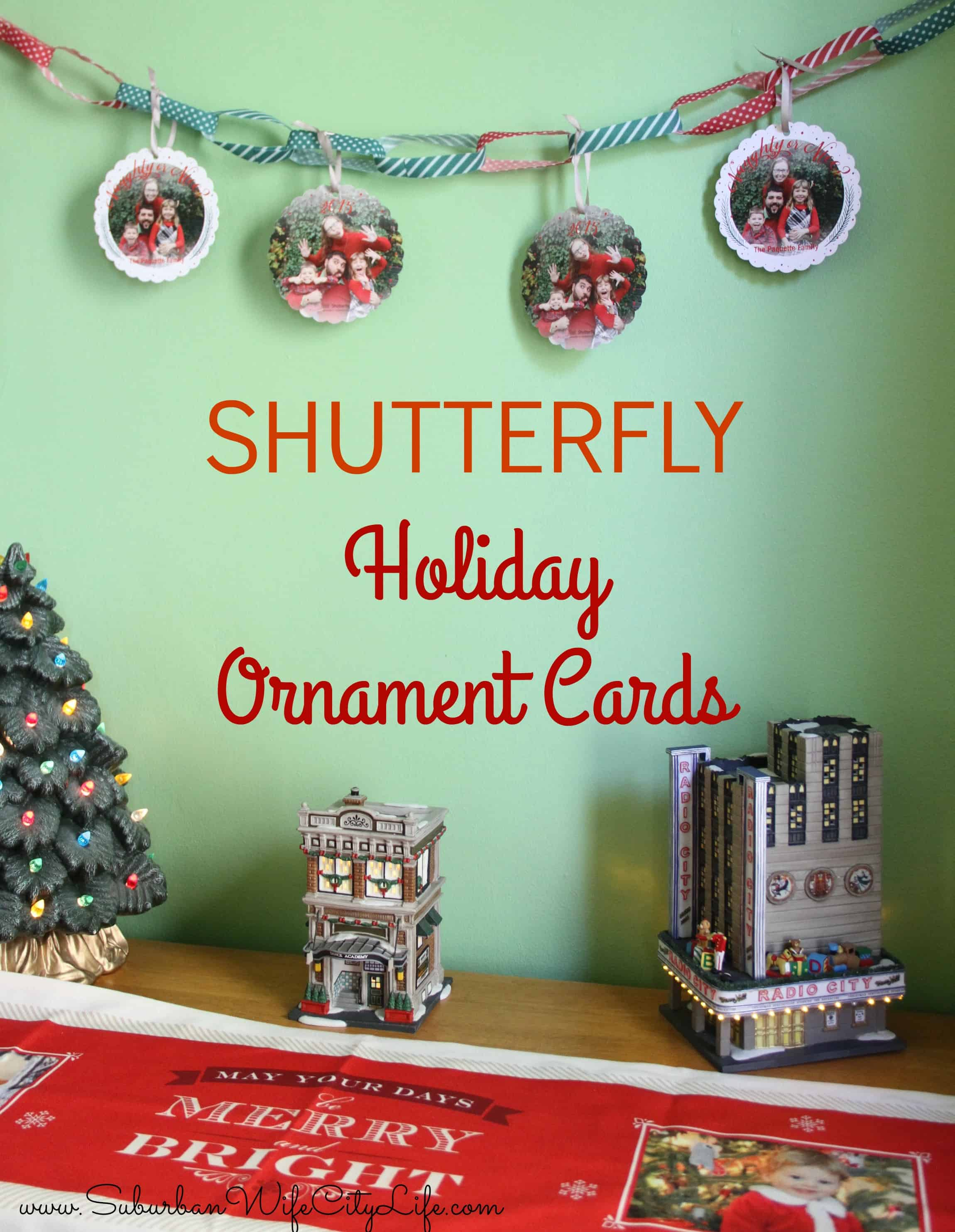 Holiday Ornament Cards from Shutterfly