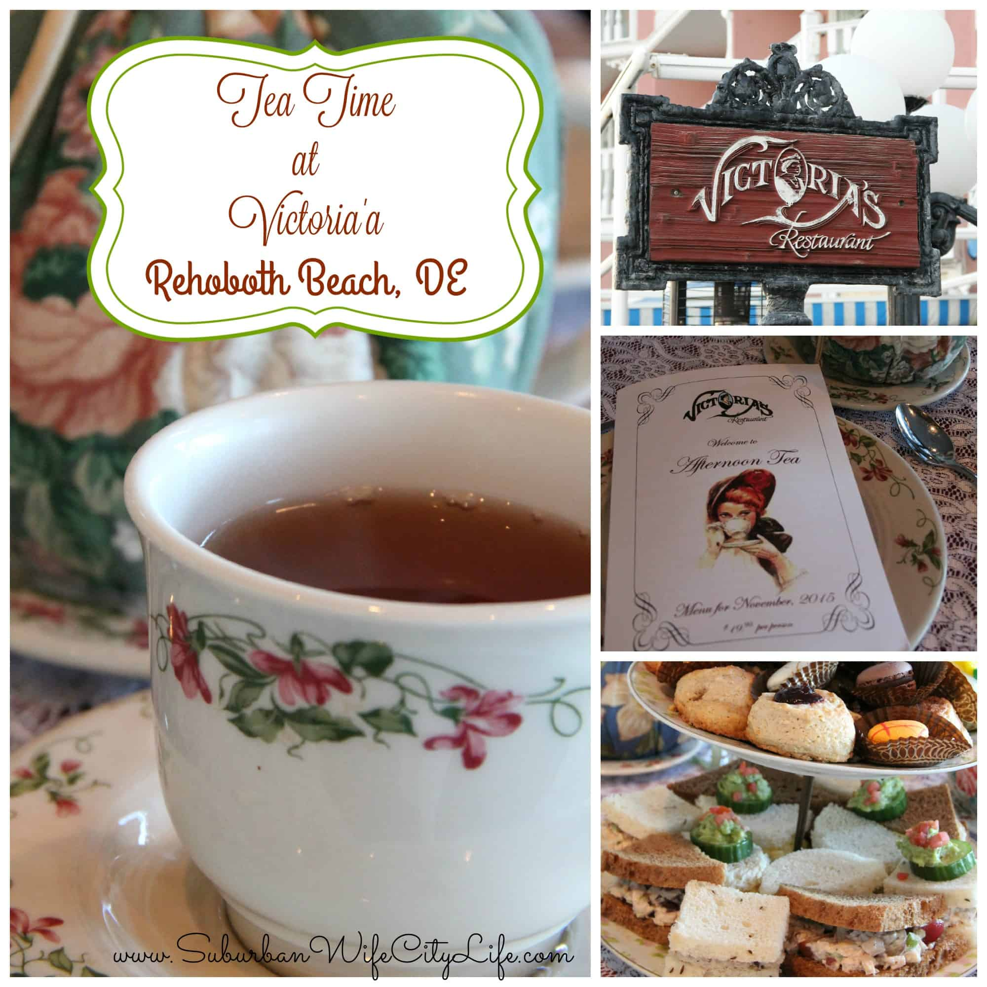 Tea Time at Victoria's in Rehoboth Beach, DE