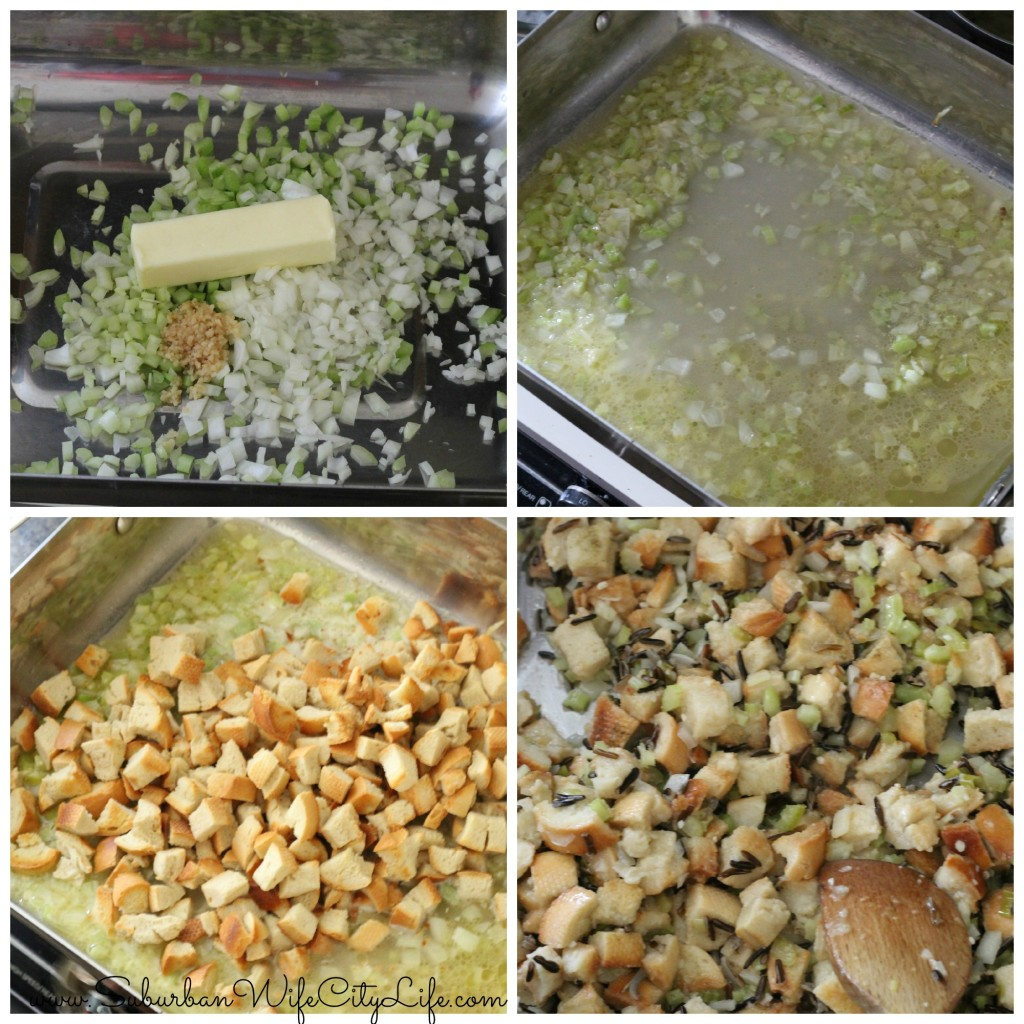 Wild Rice Stuffing steps