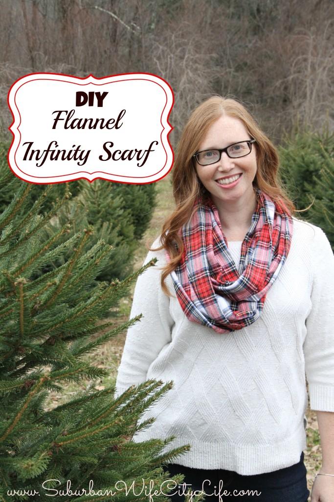 DIY Flannel Infinity Scarf