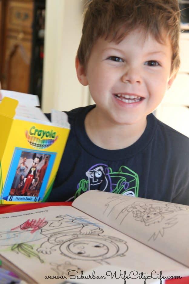 """I'm on a crayon box"""