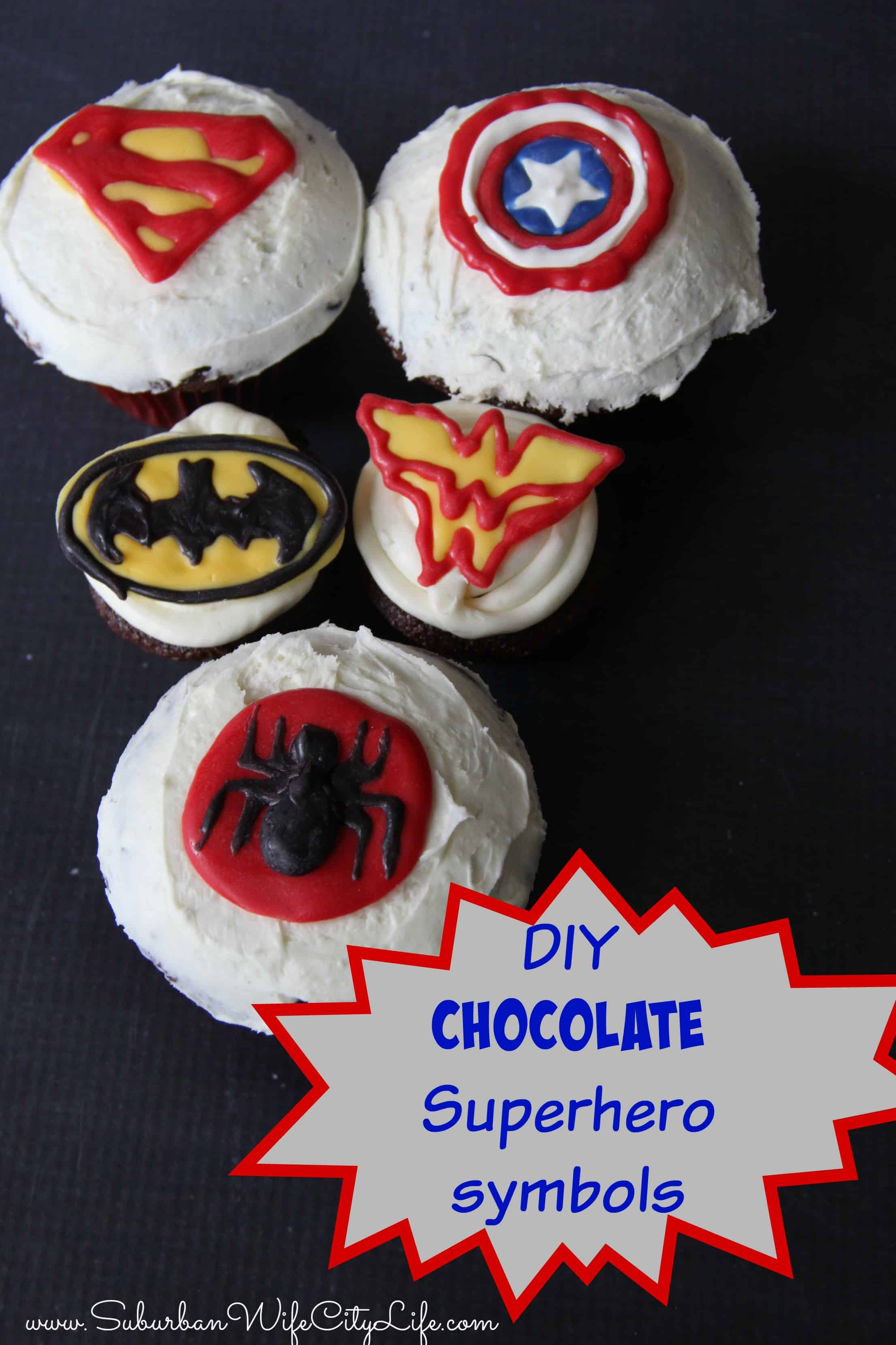 DIY- Chocolate Superhero Symbols