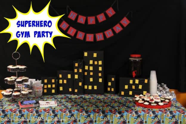 """Superhero gym party"""