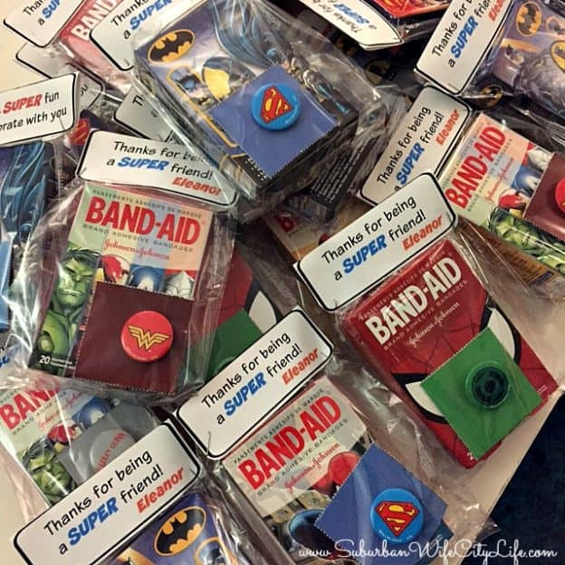 Superhero Band-Aid favors