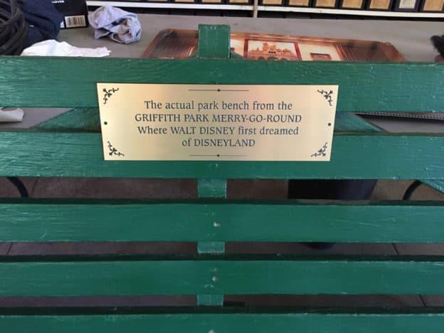 Griffith Park Merry-Go-Round Disney Park Bench