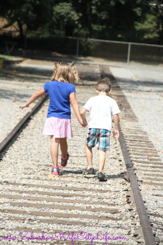 Travel Town walking the tracks