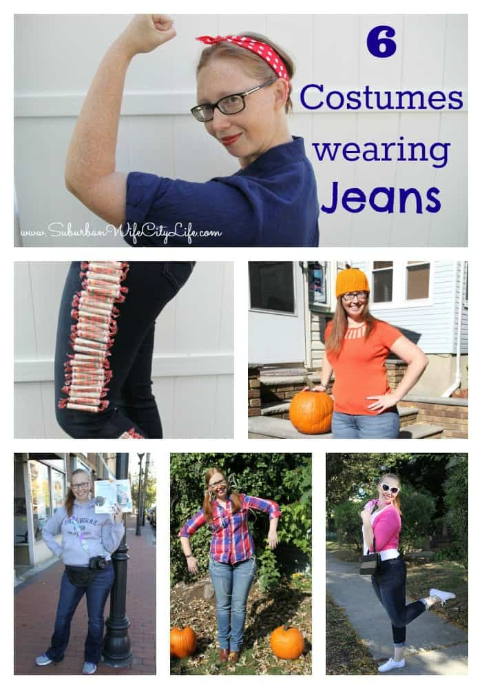 6 Costumes using Jeans