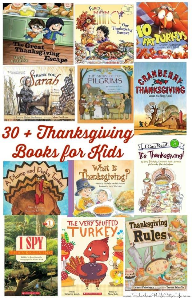 30+ Thanksgiving books for kids