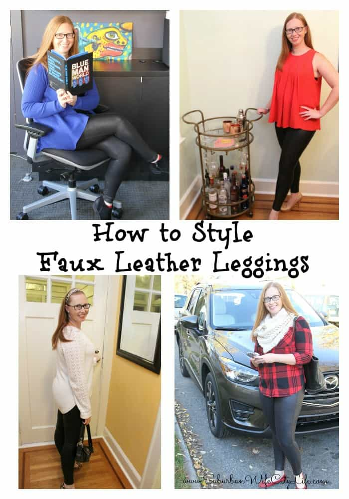 How to Style Faux Leather Leggings