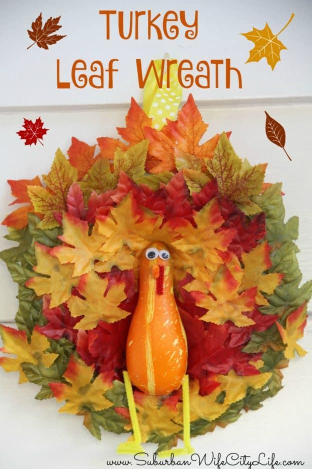 Turkey Leaf Wreath DIY
