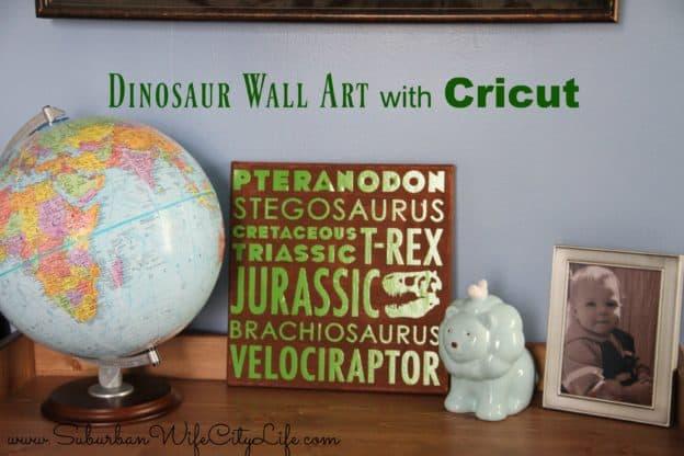 Dino Wall Art with Cricut