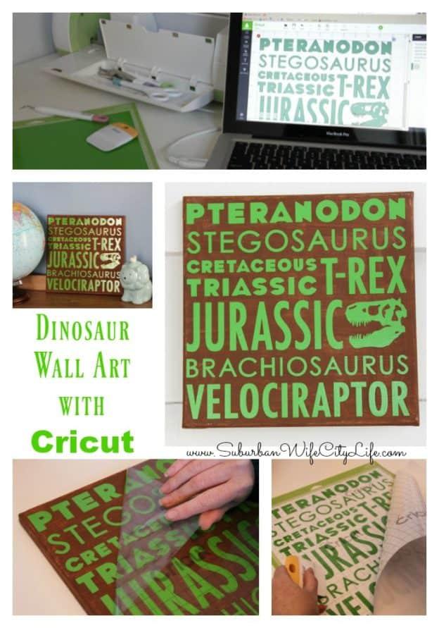 Dinosaur Wall Art with Cricut