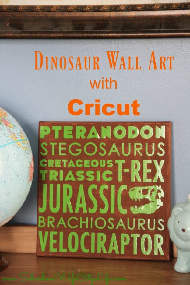 Dinosaur Wall Collage with Cricut
