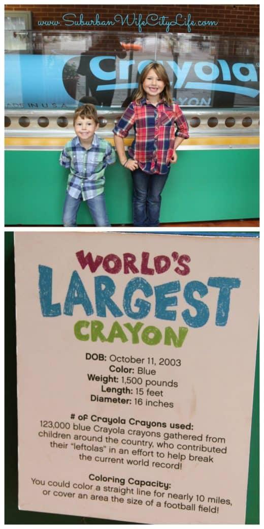 Crayola Experience World's Largest Crayon
