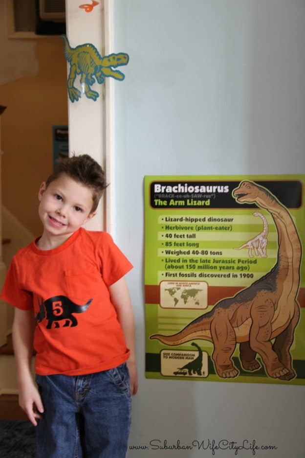 Dino Dig Party Information Posters