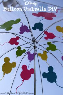 Disney Balloon Umbrella DIY