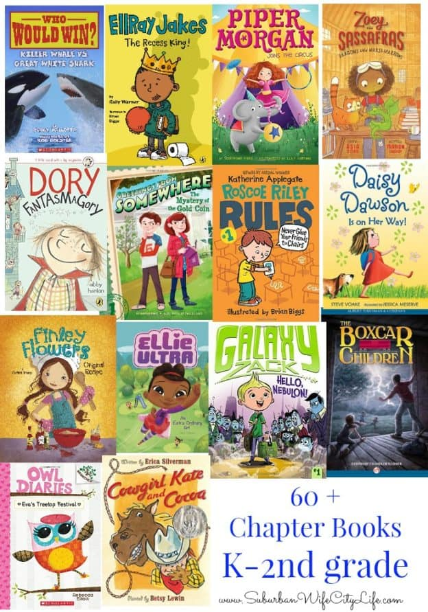 60+ chapter books K-2nd Grade