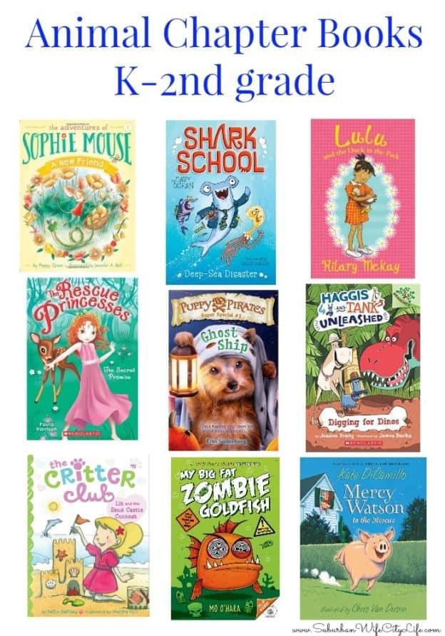 Animal Chapter books K-2nd Grade