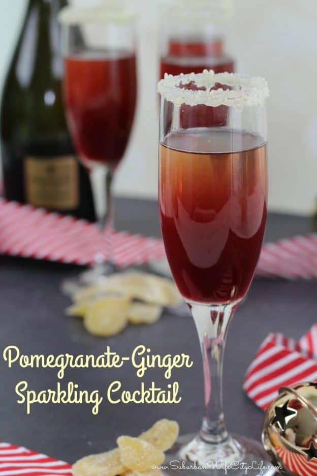 Pomegranate-Ginger Sparkling Cocktail