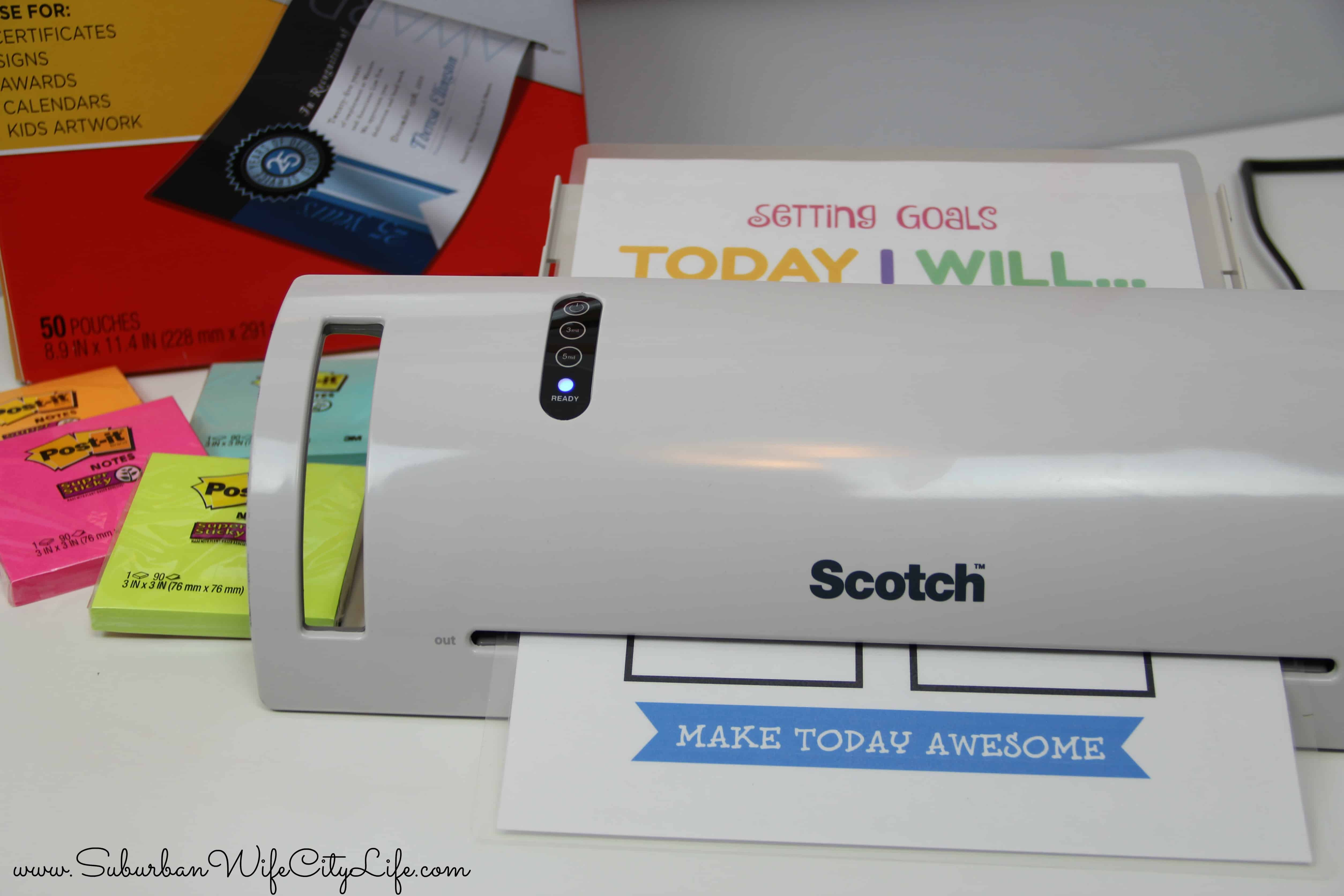Scotch brand laminator back to school goals