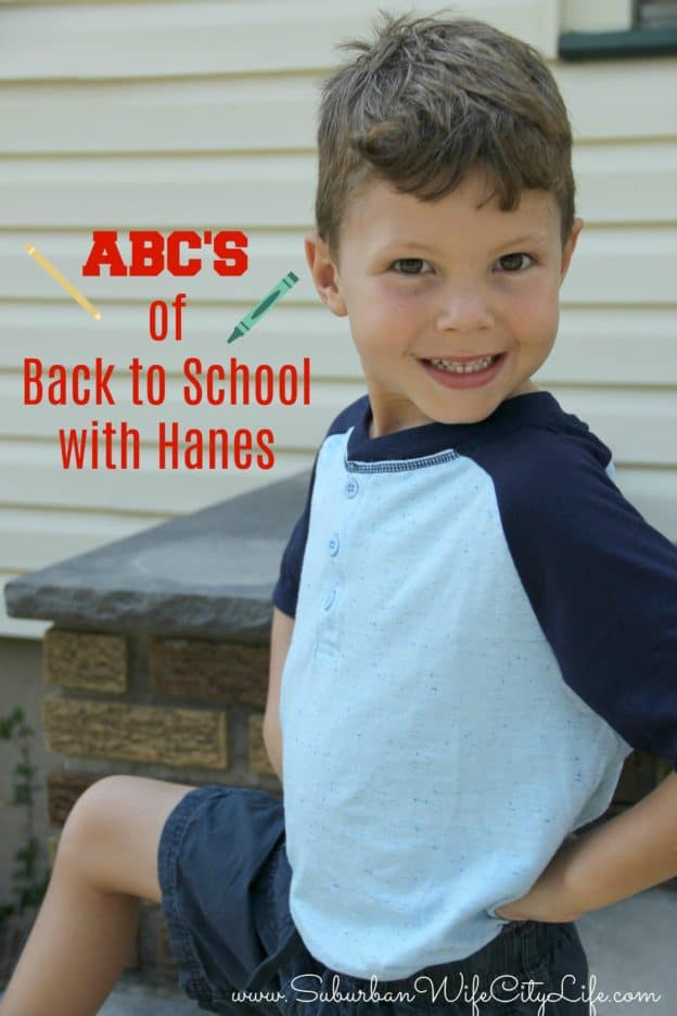 ABC's of Back to School with Hanes