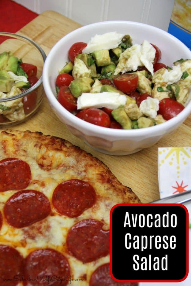 Avocado Caprese Salad #BaronessPatches #ad