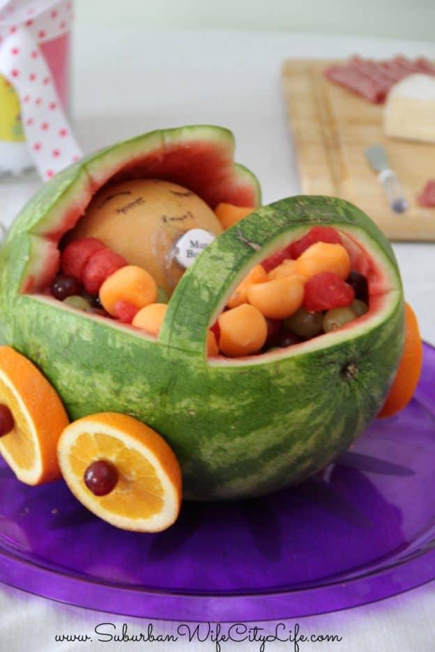 Baby Shower Watermelon Stroller