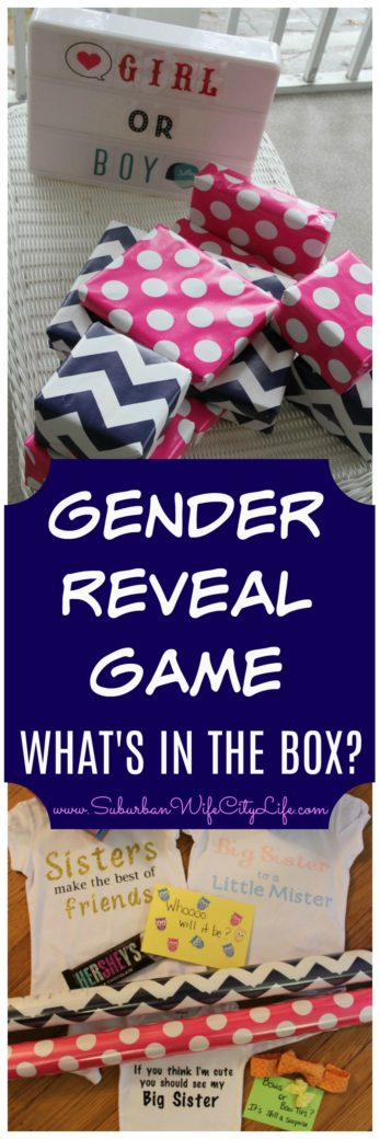 Gender Reveal Game - What's in the Box