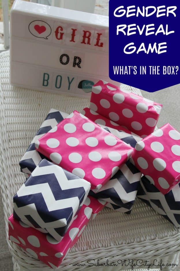 Gender Reveal Game What's in the Box Boy or Girl