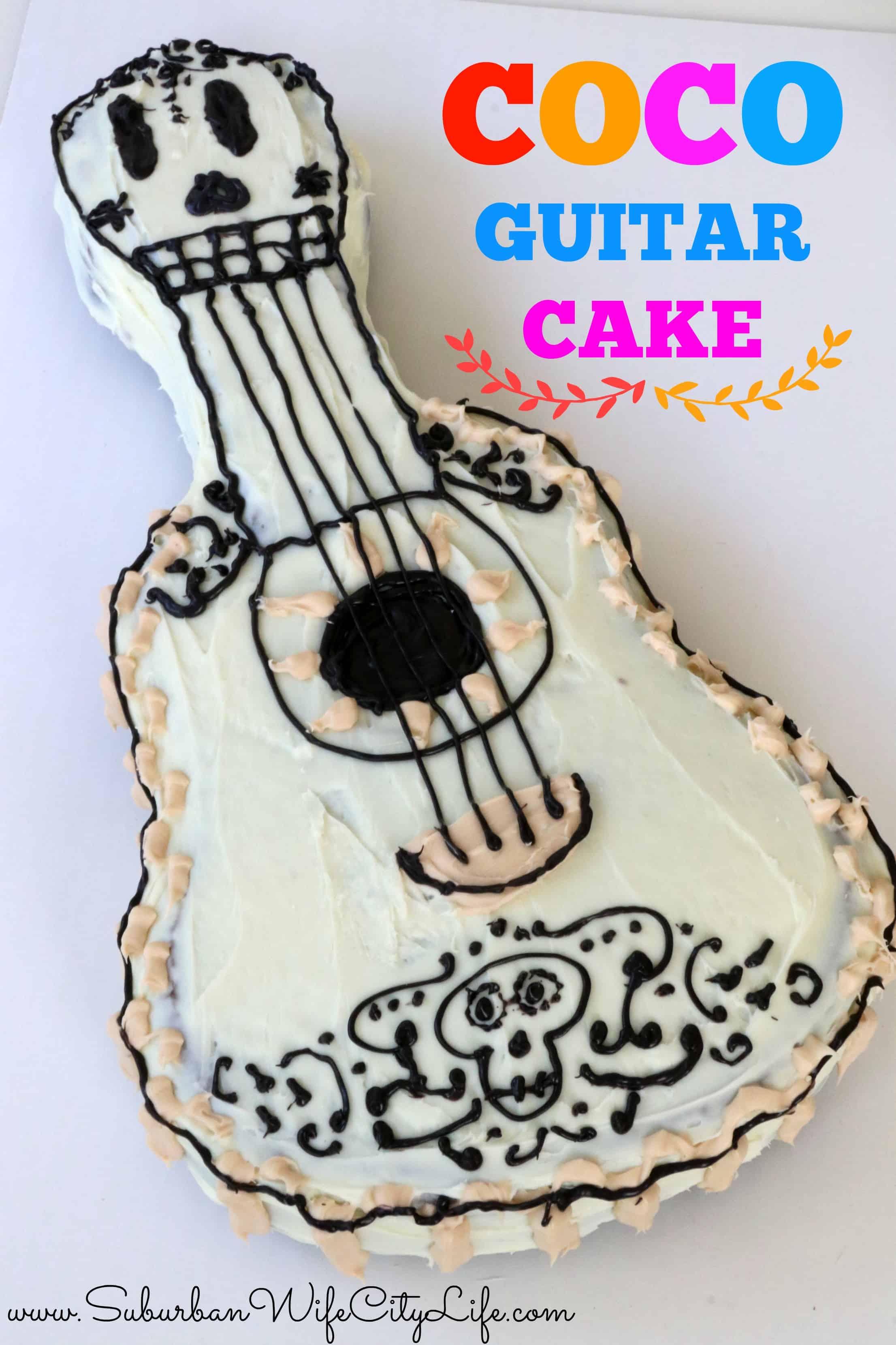 Disney Pixar Coco Guitar Cake
