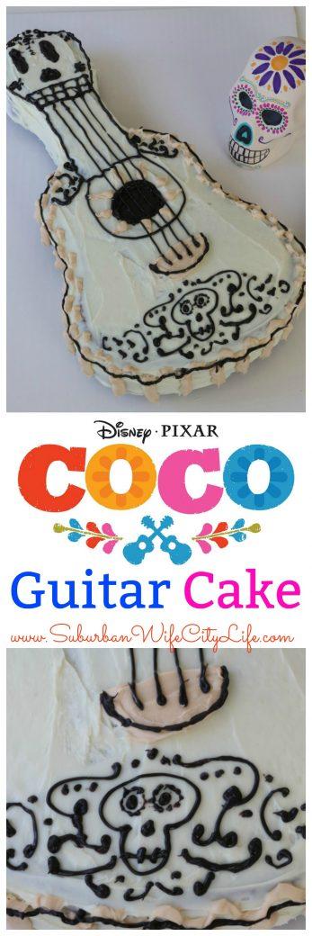 Disney Pixar Coco Guitar Cake #PixarCoco