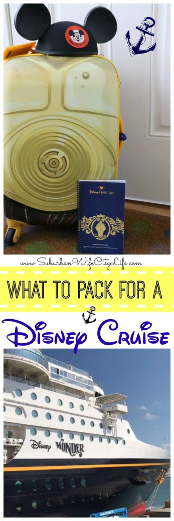 What to pack for a Disney Cruise!